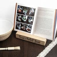 Personalised Double Kitchen Recipe Book or Tablet Holder - ideal gift for any budding chef or cook - mum, dad, grandma, grandad - partyworx.co.uk
